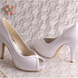 Platform Heels Actual Heel Height 3.94 Inch Modern Wedding Shoe
