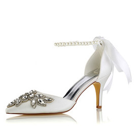 Heels Actual Heel Height 3.15 Inch Drama Spring Bridal Shoe