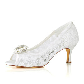 Modern Spring Summer Actual Heel Height 2.56 Inch Wedding Shoe