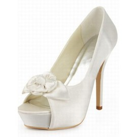 PU High-heeled Open-toed Fine With Bridal Shoe