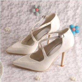 Actual Heel Height 3.54 Inch Charming Winter Heels Bridal Shoe