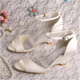 Wedges Autumn Winter Romantic Actual Heel Height 3.15 Inch Women Shoe