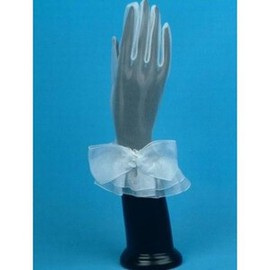 Tulle With Bowknot White Chic Bridal Gloves