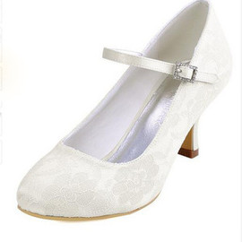Actual Heel Height 2.76 Inch Charming Spring Bridal Shoe