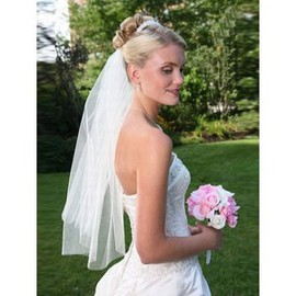 Short Simple Cheap Bridal Veils