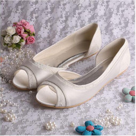 Formal Autumn Winter Flats Bridal Shoe