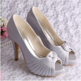 Classic Platform Heels Actual Heel Height 3.94 Inch Wedding Shoe