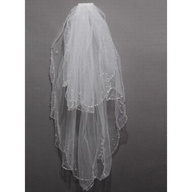 Modest Elegant Short Wedding Veil