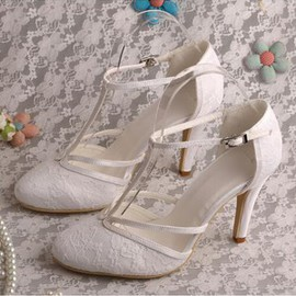 Actual Heel Height 3.15 Inch Classic Spring Heels Bridal Shoe