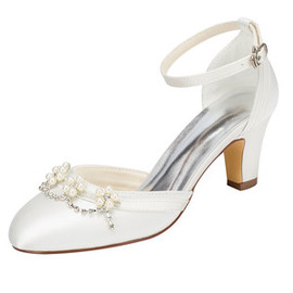 Actual Heel Height 2.36 Inch Formal Spring Summer Wedding Shoe