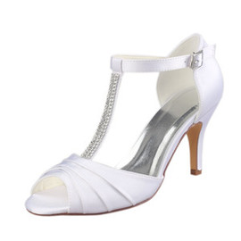 Spring Summer Heels Luxury Actual Heel Height 3.15 Inch Bridal Shoe