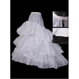 Beautiful Tiered Brush Train A Line | Princess Crinolines