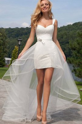 Spaghetti Straps Chic & Modern Informal & Casual Short Romantic Wedding Dress