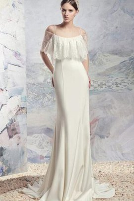 Chiffon Pleated Informal & Casual Spaghetti Straps Mermaid Wedding Dress