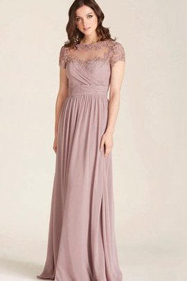 Pleated Sleeveless Chiffon A-Line Bridesmaid Dress