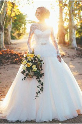Zipper Up Long Natural Waist Outdoor Floor Length Wedding Dress
