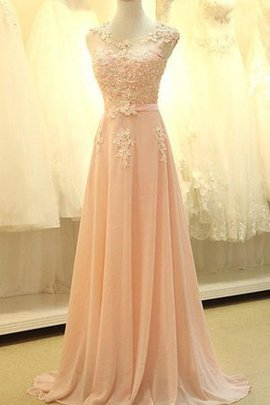 Pleated Vintage Appliques Floor Length Long Prom Dress