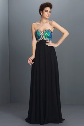 Sleeveless Sequined Long A-Line Floor Length Prom Dress