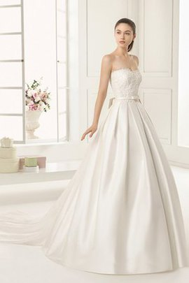 Swing Watteau Train Taffeta Romantic Floor Length Wedding Dress