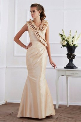 Empire Waist V-Neck Sheath Floor Length Short Sleeves Mother Of The Bride Dress
