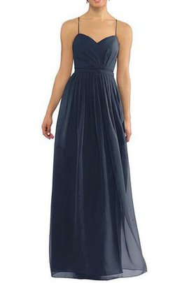 Simple Long Floor Length A-Line Ruched Bridesmaid Dress