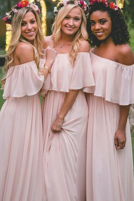 Sleeveless A-Line Natural Waist Off The Shoulder Bridesmaid Dress