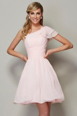 Sleeveless A-Line Chiffon Pleated Bridesmaid Dress