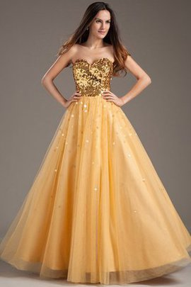 Sleeveless Sequined A-Line Taffeta Sweetheart Quinceanera Dress