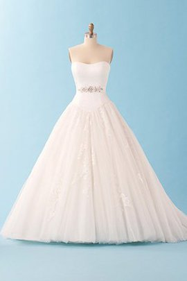 Sweetheart Long Lace Rectangle Romantic Wedding Dress