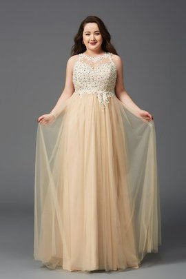 Floor Length Empire Waist A-Line Sleeveless Scoop Prom Dress