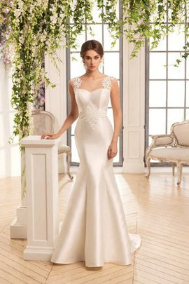 Beach Floor Length Appliques Zipper Up Mermaid Wedding Dress