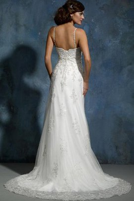 Sheath Floor Length Appliques Lace Fabric Natural Waist Wedding Dress
