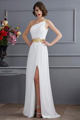 Chiffon One Shoulder Princess Sleeveless Long Prom Dress