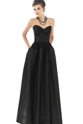 Strapless Ruched Criss-Cross Floor Length Bridesmaid Dress