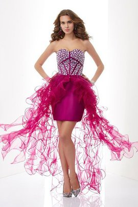 Sweetheart Elastic Woven Satin Beading Tulle Sleeveless Homecoming Dress