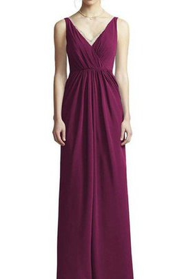 A-Line Floor Length Spaghetti Straps Ruched Chiffon Bridesmaid Dress