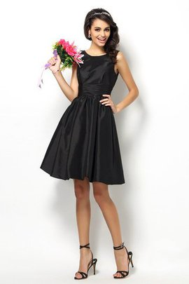Sleeveless Taffeta Princess Natural Waist Short Bridesmaid Dress