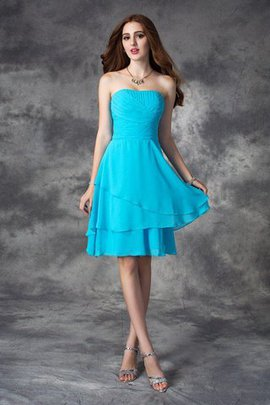 Sleeveless Ruffles Zipper Up A-Line Short Bridesmaid Dress