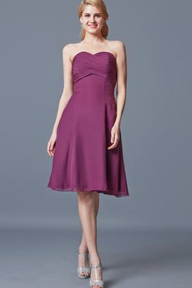 Knee Length Simple Elegant & Luxurious Sweetheart A-Line Bridesmaid Dress