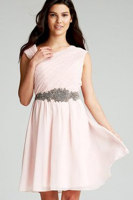 Sashes Chic & Modern Chiffon Asymmetrical Party Dress