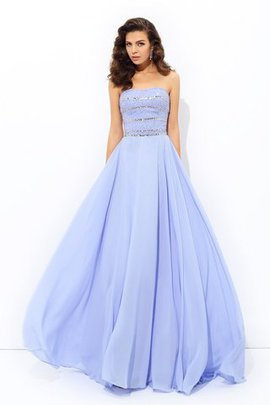 Beading A-Line Strapless Natural Waist Sleeveless Evening Dress
