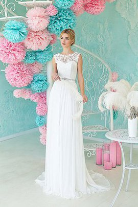 Scoop Informal & Casual Floor Length Natural Waist Sleeveless Wedding Dress
