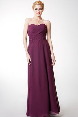 Sleeveless Floor Length Simple Criss-Cross Sweetheart Bridesmaid Dress