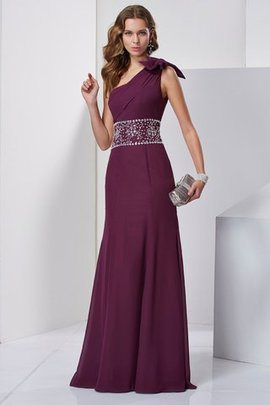 Floor Length Long Beading A-Line One Shoulder Evening Dress