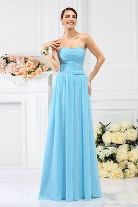 Chiffon Long Zipper Up Draped Sweetheart Bridesmaid Dress
