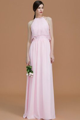 A-Line Natural Waist Sleeveless Zipper Up Bridesmaid Dress