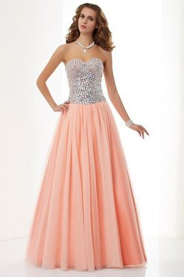 Princess Beading Floor Length Sleeveless Natural Waist Evening Dress