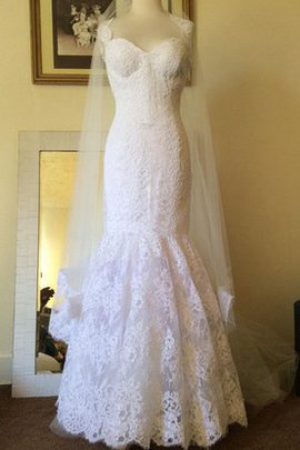 Floor Length Sleeveless Lace Zipper Up Mermaid Wedding Dress