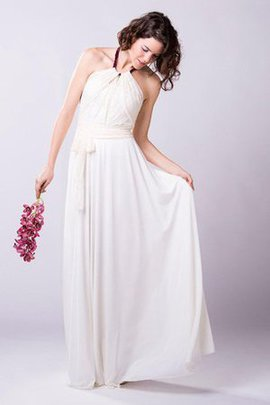 Sleeveless Informal & Casual Halter Ruched Zipper Up Wedding Dress