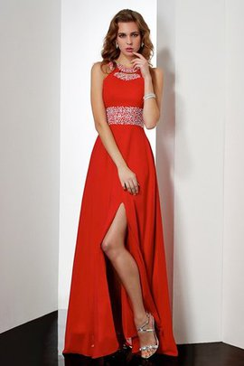 Empire Natural Waist Sleeveless Chiffon Floor Length Evening Dress